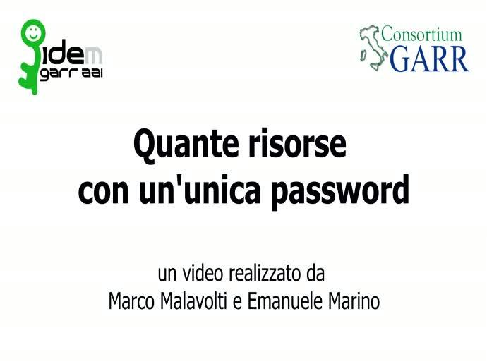 Quante risorse con un'unica Password